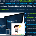 EcomAcademy Unrestricted PLR Review