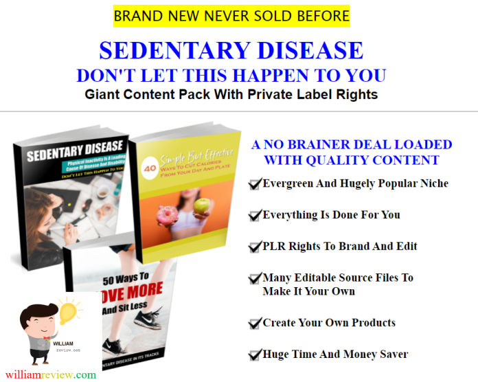 Sedentary Disease Quality Giant PLR Review