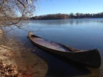 Encased canoe.