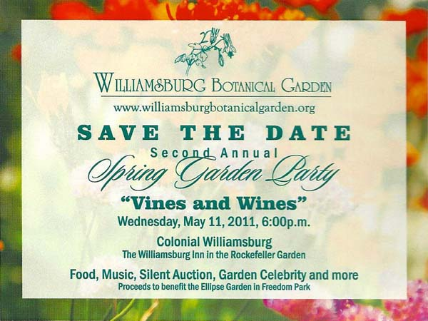 save the date for the Vines and Wines Party