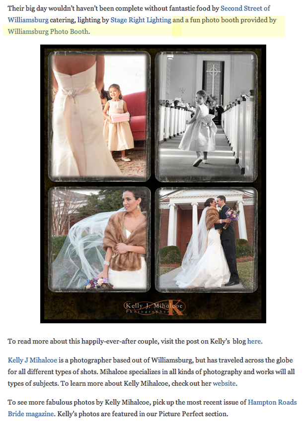 Hampton Roads Bride Blog Post