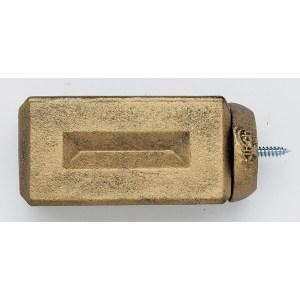 Beveled Brick Finial - Iron Gold