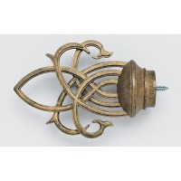 Inner Lace Finial - Iron Gold