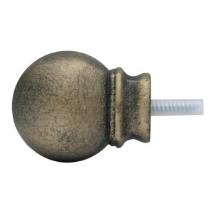 Petite Modern Ball Finial - Iron Gold