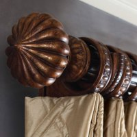 Wooden Curtain Rods from the Renaissance Collection.