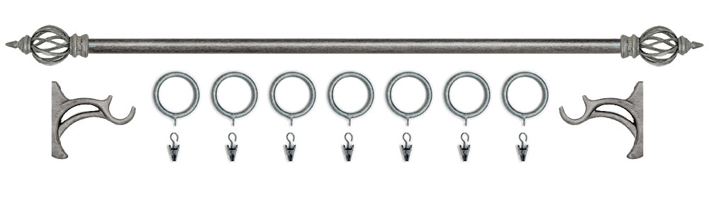 kirsch wrought iron curtain rods and finials