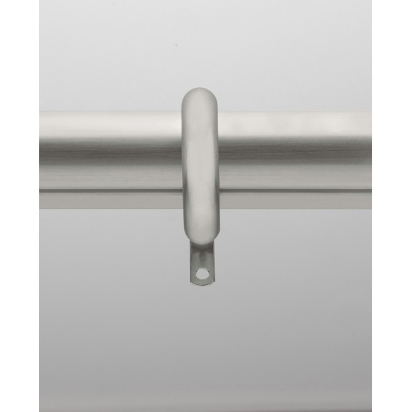 """1-3/8"""" Rod - 120""""-180"""" Smooth with Rings - Satin Nickel"""