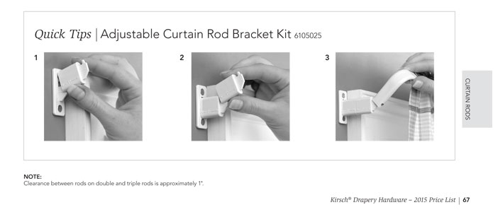 kirsch lockseam curtain rod example