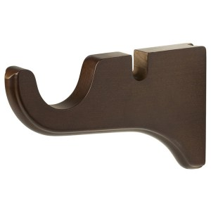 "Wood Trends Classics 1-3/8"" Double Wood Bracket Coffee"