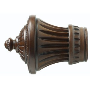 "1-3/8"" Charleston Finial - Coffee"