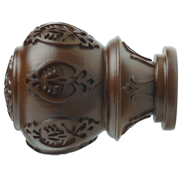"""1-3/8"""" Lacey Finial - Coffee"""
