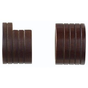 "Wood Trends Classics 1 3/8"" Wood Inside Mount Sockets Coffee"