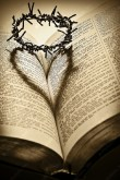 Bible and cross of thorns