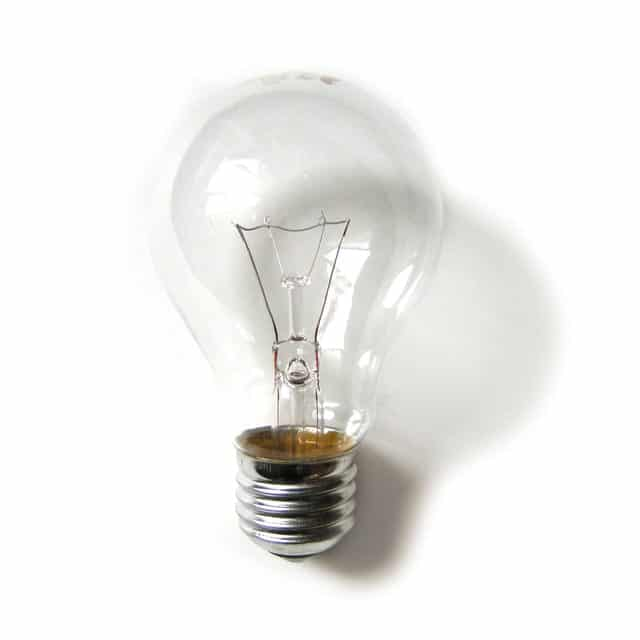 Image of a lightbulb for an article about utility assistance for senior citizens.