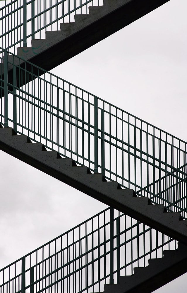 Image of stairs for an article about stair safety for seniors.