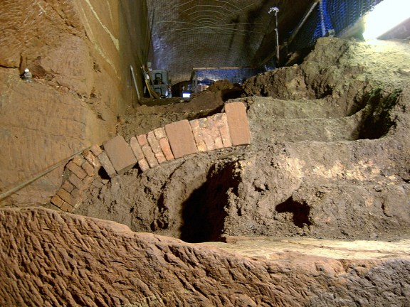Unique arch structure buried in the South Tunnel.