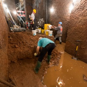 Level 4, showing the water and the dig progress.