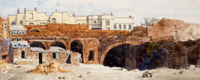 Smithdown Lane, 1858: some of the tunnels supporting gardens behind Williamson's houses