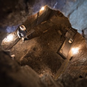 Looking down into the Banqueting Hall from the Boiler Room