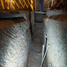 The trench in the Banqueting Hall