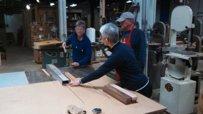 Suzette/Judy using table saw