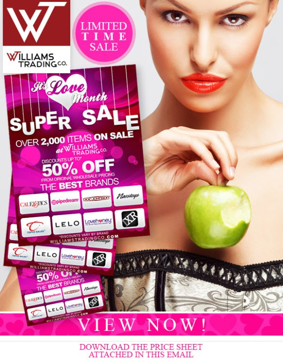 Williams Trading Co Love Month SAle