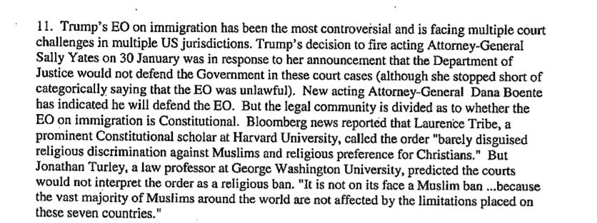 Trump ban - most controversial