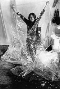 Eva Hesse in her Bowery Studio, circa 1967. Photo- Herman Landshoff