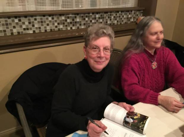 Joan Harrison at her Book Launch Party at the View Grill in Glen Cove. Celebrating Joan Harrison's third book on Glen Cove History, Images of Modern America Glen Cove. photo by Gaitley Stevenson-Mathews, via facebook, January 30, 2015