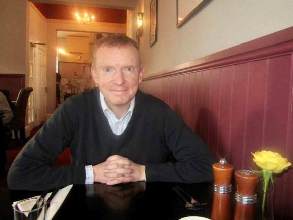Enjoying a meal in York