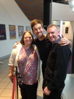 Me with Chris Ramsey and the famous 'Howl'