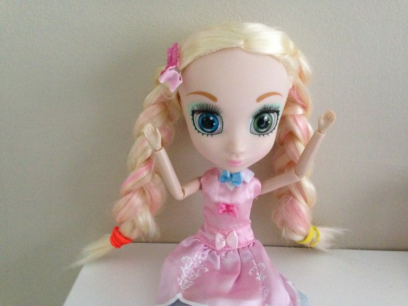 Doll with plaits