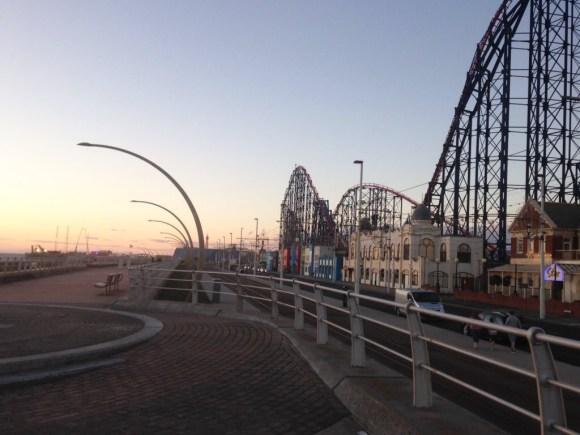 Blackpool prom sunset