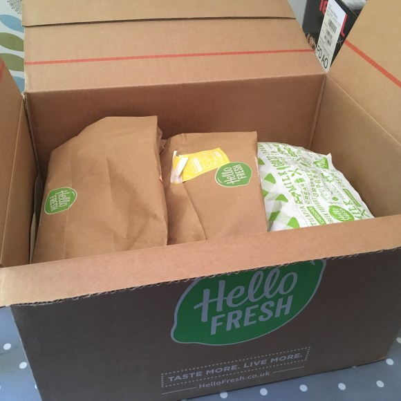 Opening a Hello Fresh Box