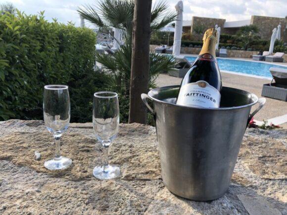 Champagne at Ikos Olivia