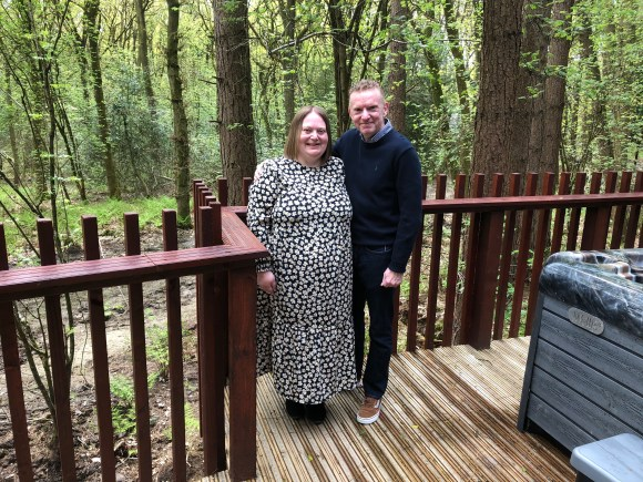 Celebrating 20 years of marriage at Forest Holidays