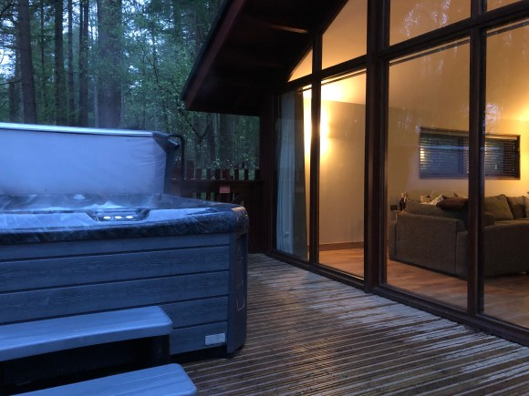 Hot tub at Forest Holidays