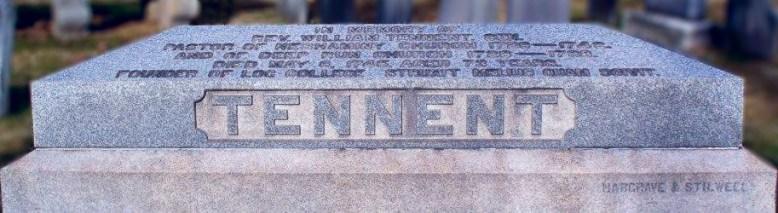William Tennent's grave located in the Neshaminy-Warwick Presbyterian Church Cemetery