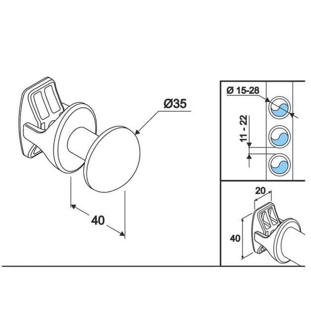 WillieJan Radiator handdoekenhaak 905W - Wit - set 2 stuks - Radiatorbevestiging - Zonder boren