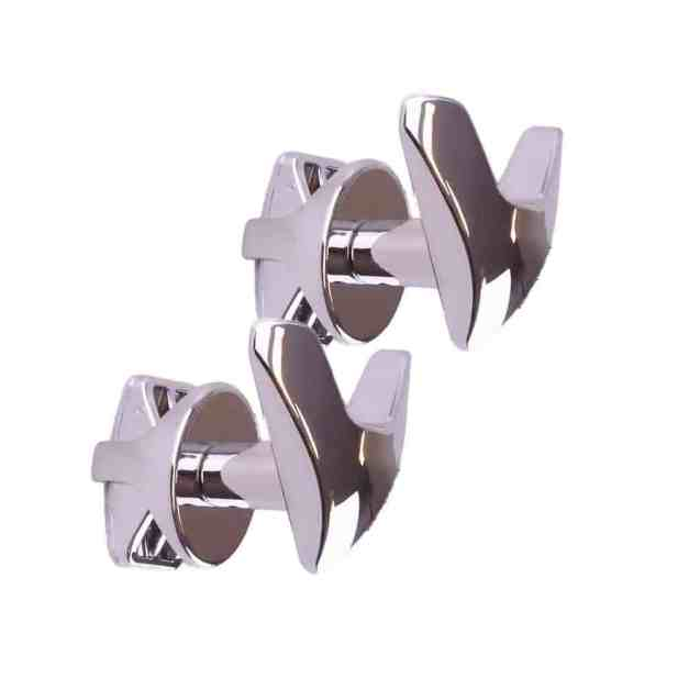 WillieJan Dubbele Radiator Handdoekenhaak 910C - Chroom - set 2 stuks dubbele haak - Radiatorbevestiging - Zonder boren