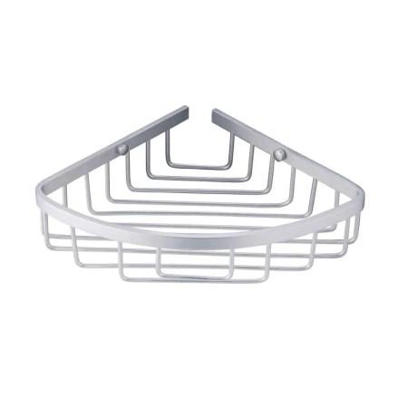 WillieJan Bad Doucherekje KD-L5107 - 1 Niveau - Hoekbevestiging - Roestvrij Aluminium