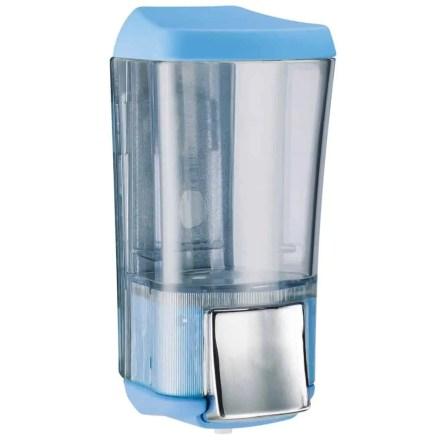 Marplast zeepdispenser A76424AZ - Professionele kwaliteit - Blauw met Transparant - 170 ml - Geschikt voor openbare ruimten