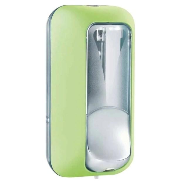 Marplast zeepdispenser A89101VE - Professionele kwaliteit - Groen met Transparant - 550 ml - Geschikt voor openbare ruimten