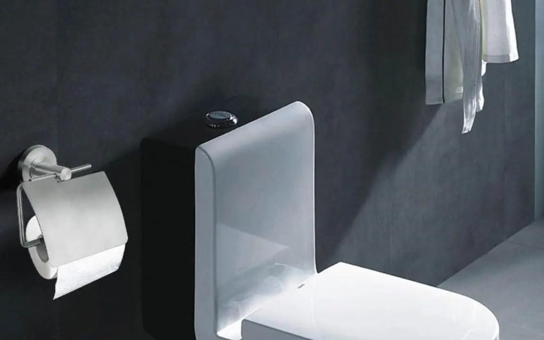 Plaats ophangen van een toiletrolhouder