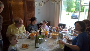Lunch at Mammy's house.