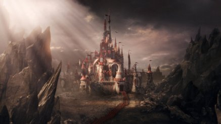 Alice in Wonderland - Scenery, Red Queen's Castle and Army