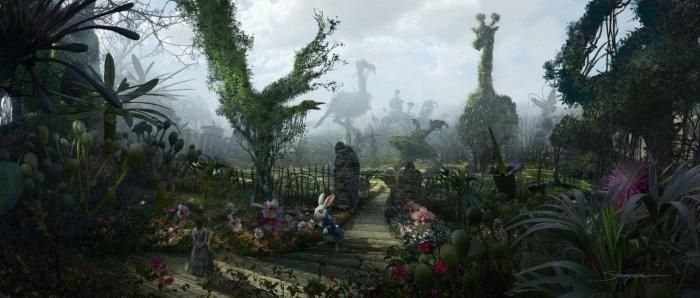 Alice in Wonderland - White Rabbit, in the Gardens