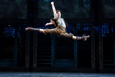 Jacob Guzman in Newsies (Matthew Murphy)