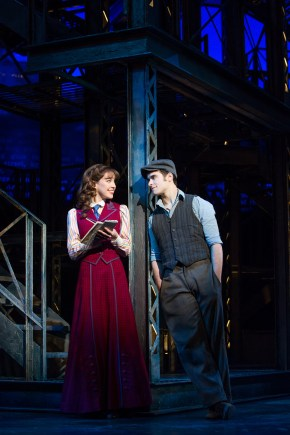 Liana Hunt and Corey Cott in Newsies (Matthew Murphy)
