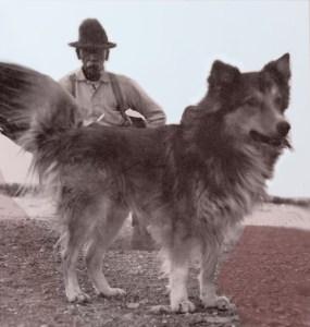Artistic rendition of Wyatt Earp & Earpie, ca. 1922